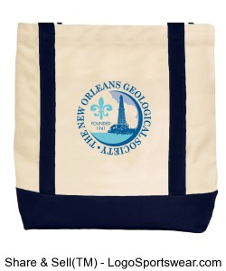 NOGS LOGO Embroidered Canvas Bag Design Zoom